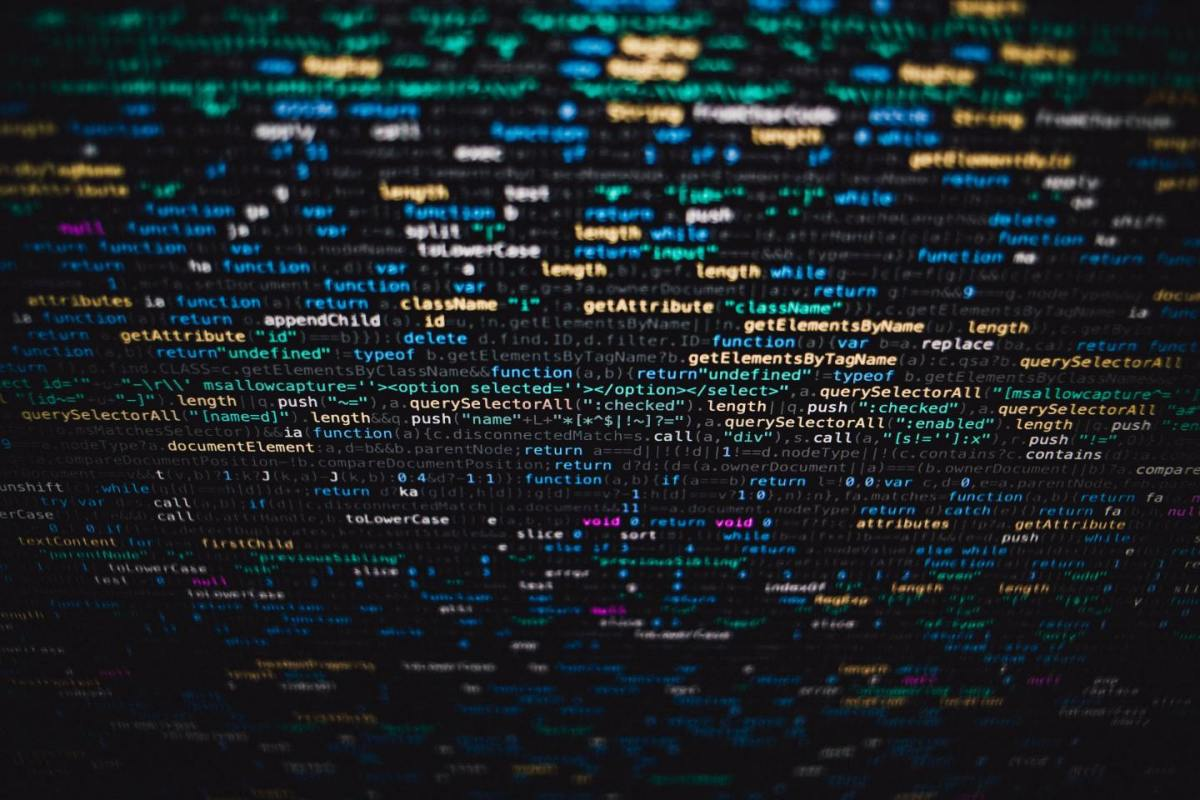 computer code on screen for data quality management
