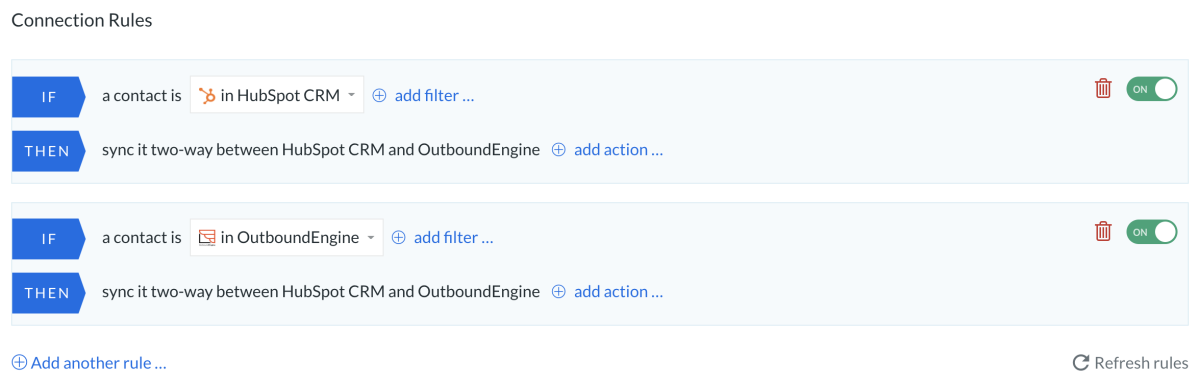 HS outboundengine rules all to all