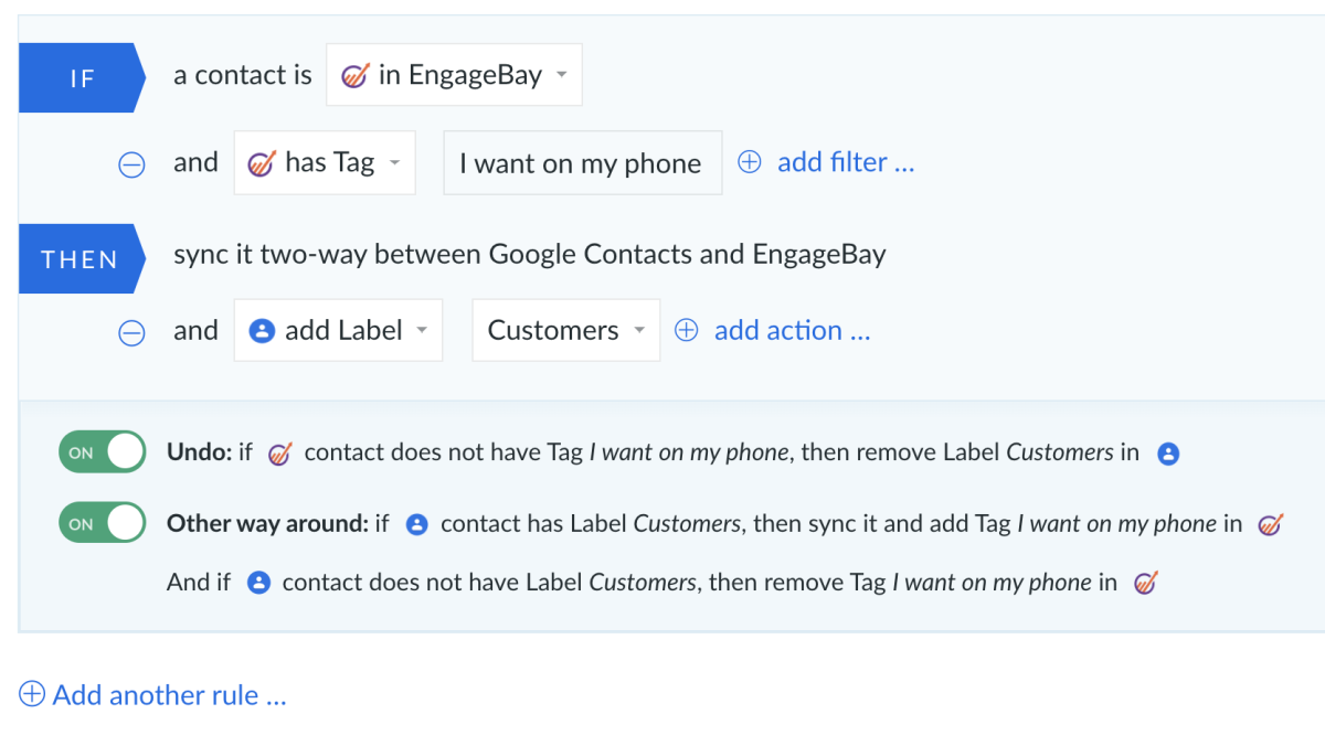 EngageBay and Google Contacts integration by PieSync