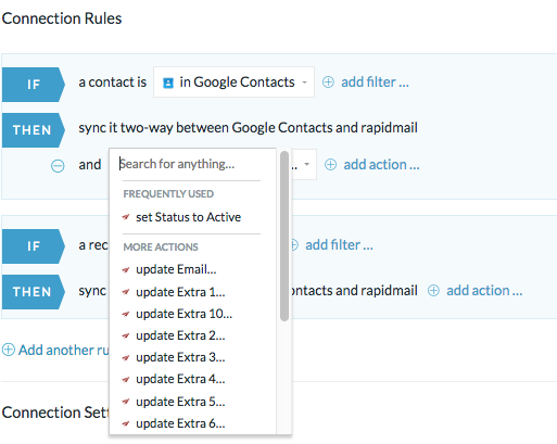 rapidmail and google contacts integration