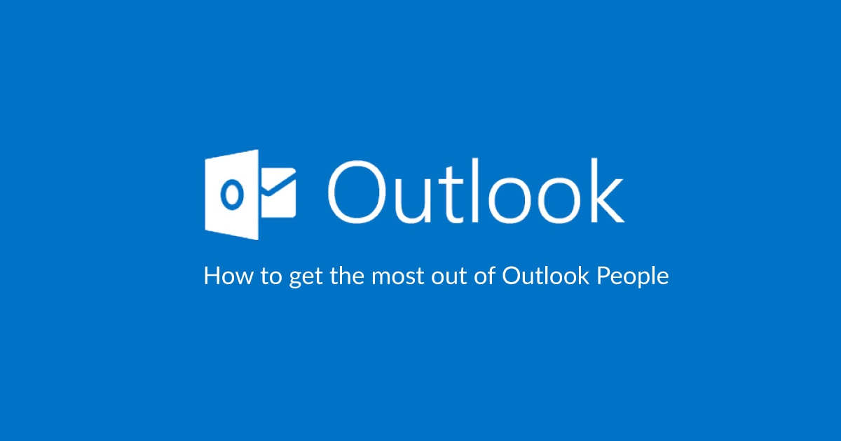Outlook people guide