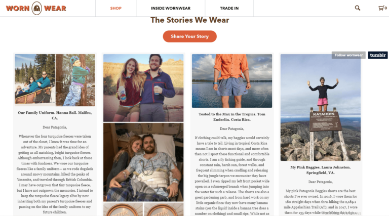 Patagonia using storytelling for conversion optimization