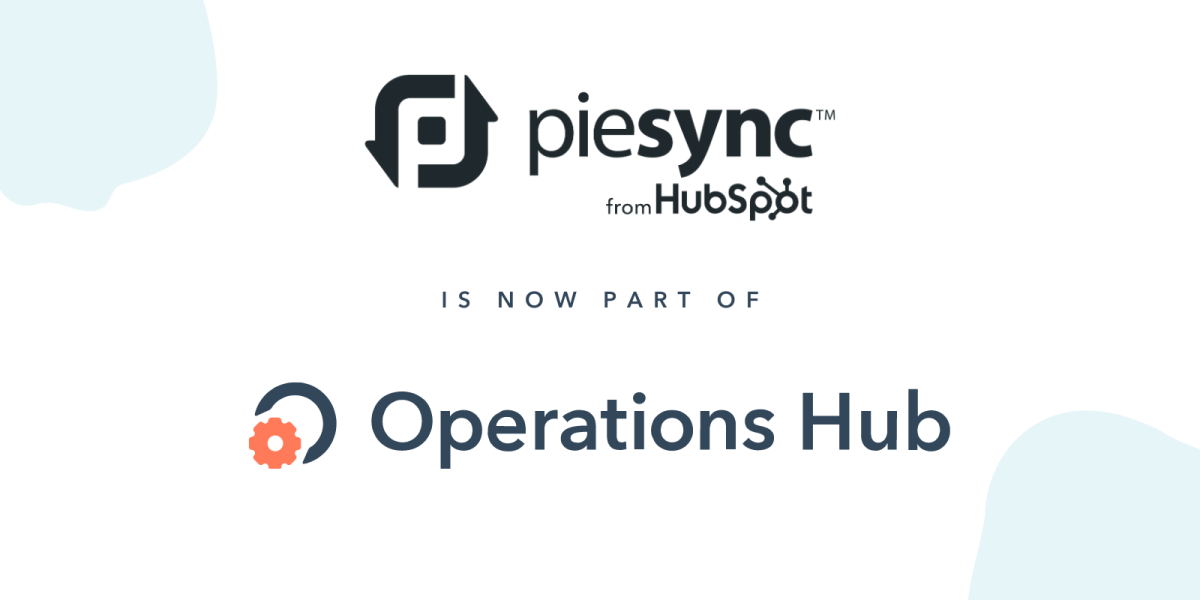 piesync is now part of operations hub