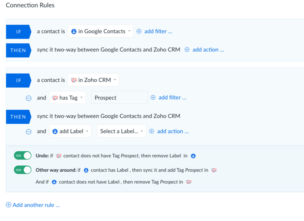 Integration for Zoho CRM and Gmail