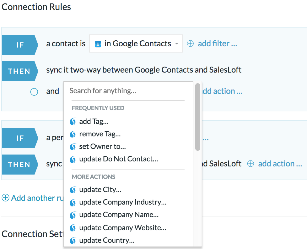 salesloft google contacts