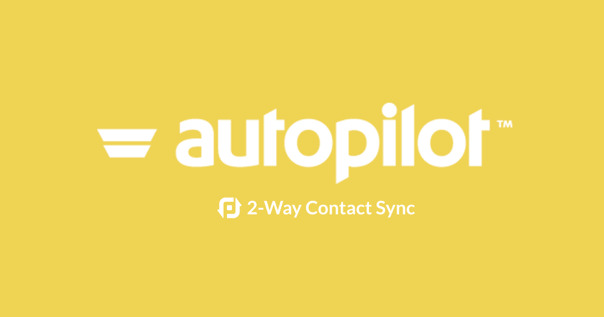 Great news! Now you can keep your Autopilot Contacts in sync