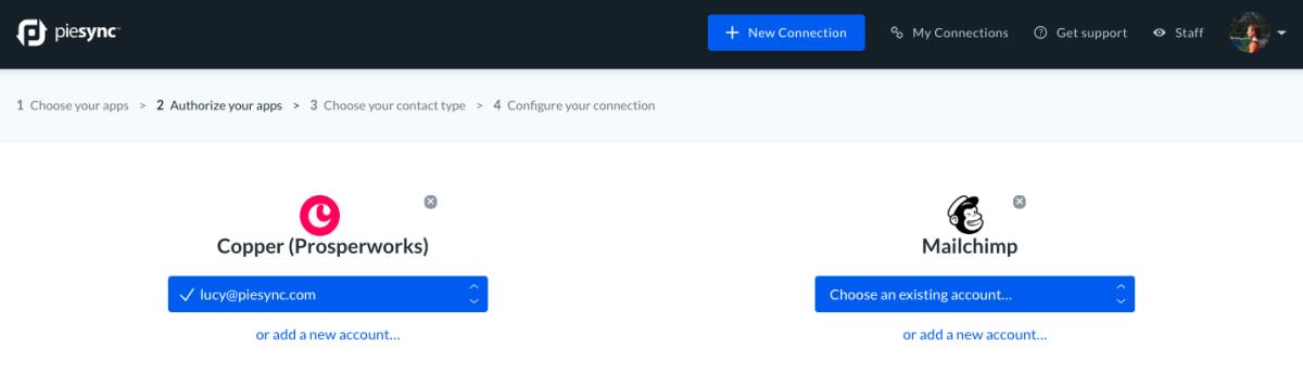 Mailchimp and Copper CRM sync