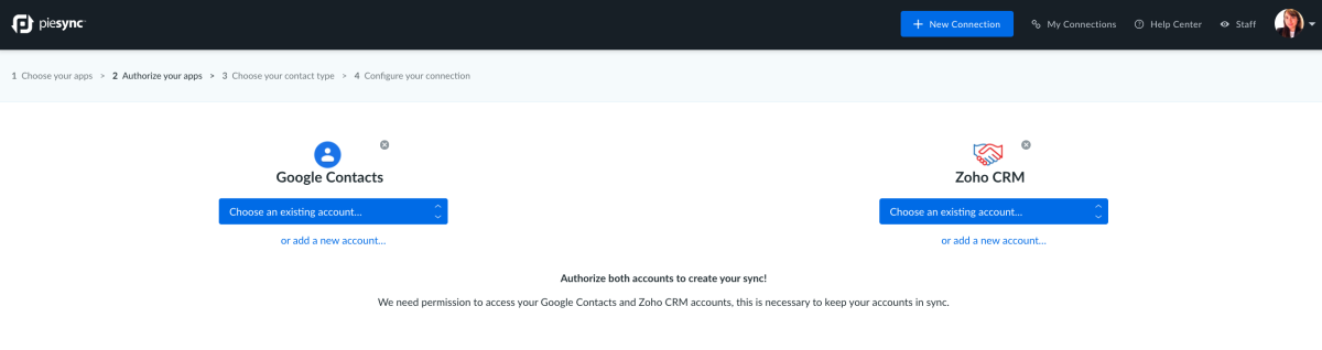 Zoho and google integration