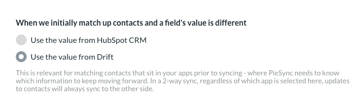 Sync drift contact data with other apps