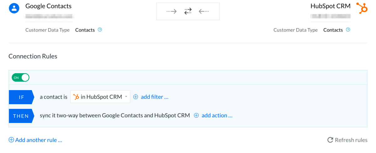 Syncing Google Contacts and HubSpot CRM two-ways with PieSync