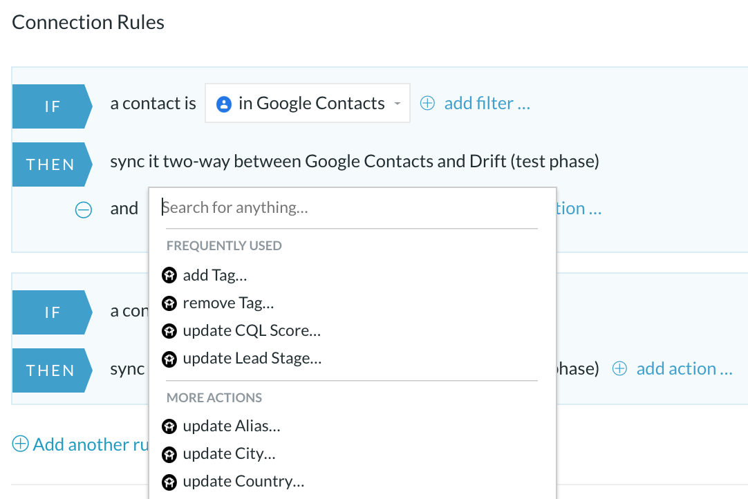 drift googlecontacts
