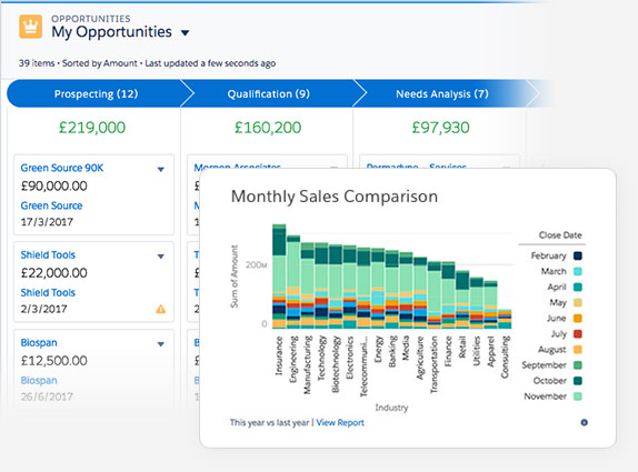 Sales Cloud forecasting opportunities