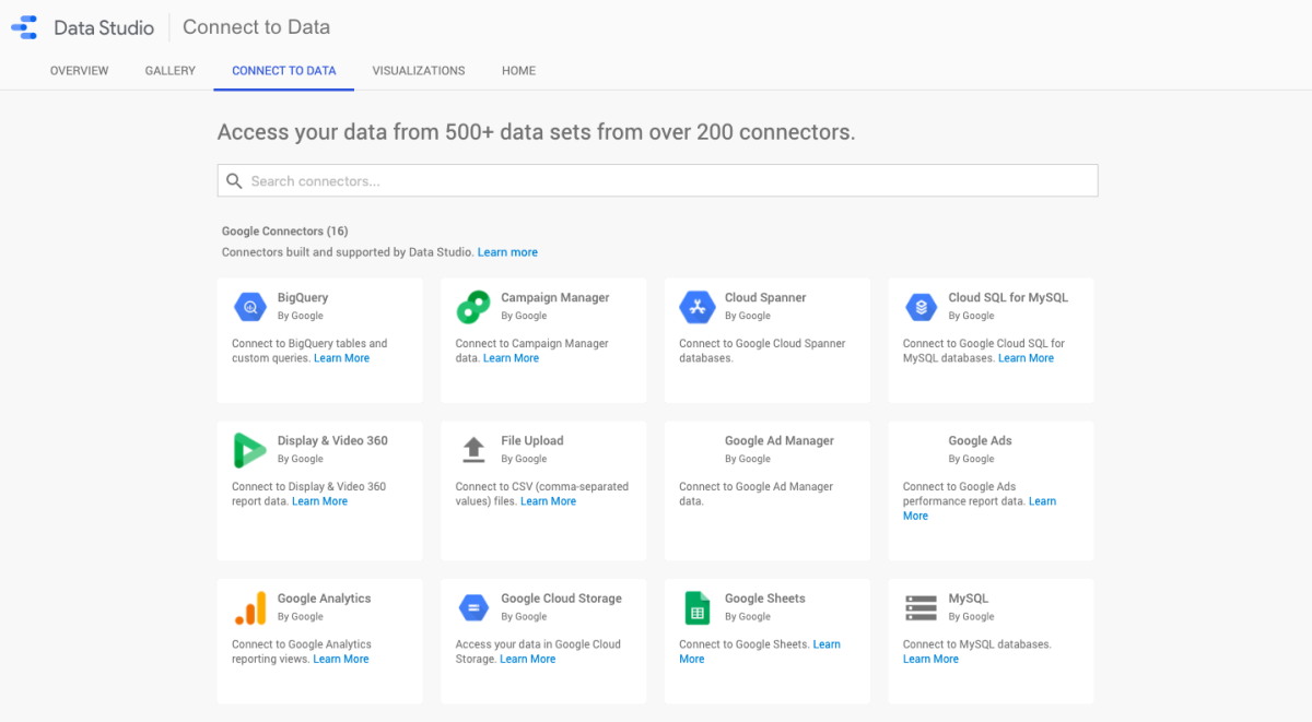 Automate reporting with Google data studio