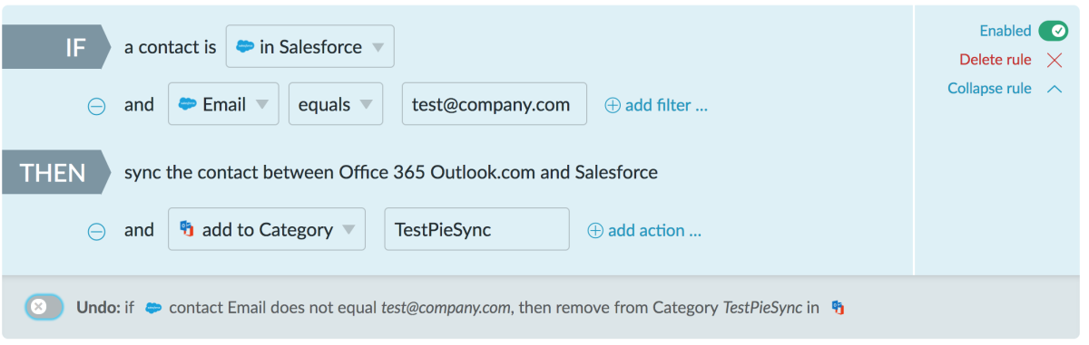 PieSync test with email address