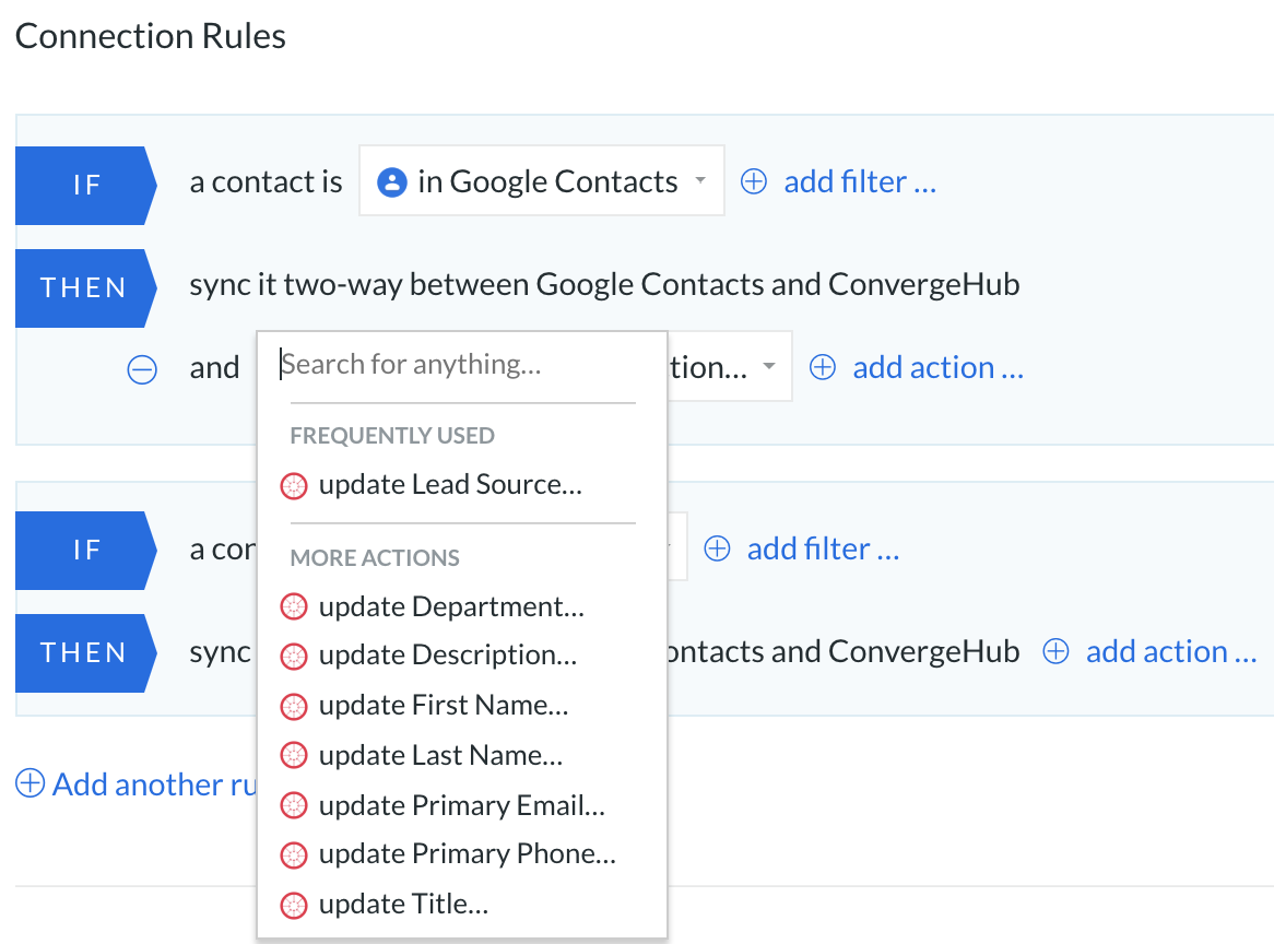 google contacts convergehub