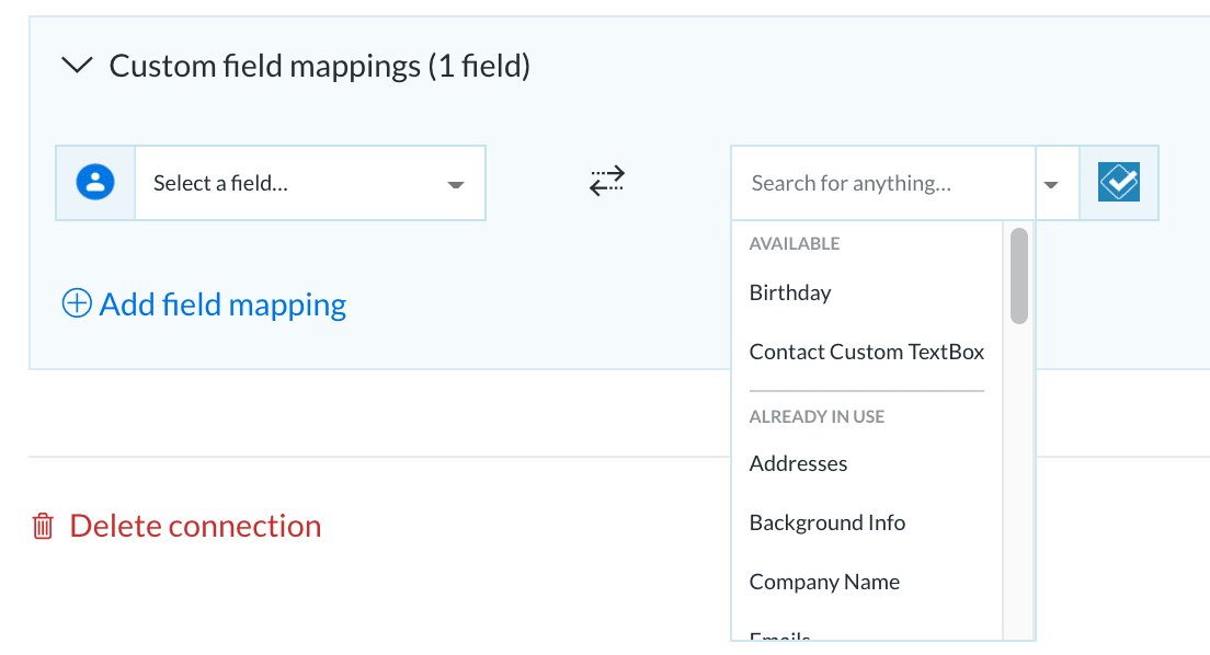 Less Annoying CRM Custom Field Mappings