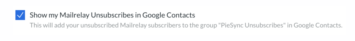 google contacts and mailrelay