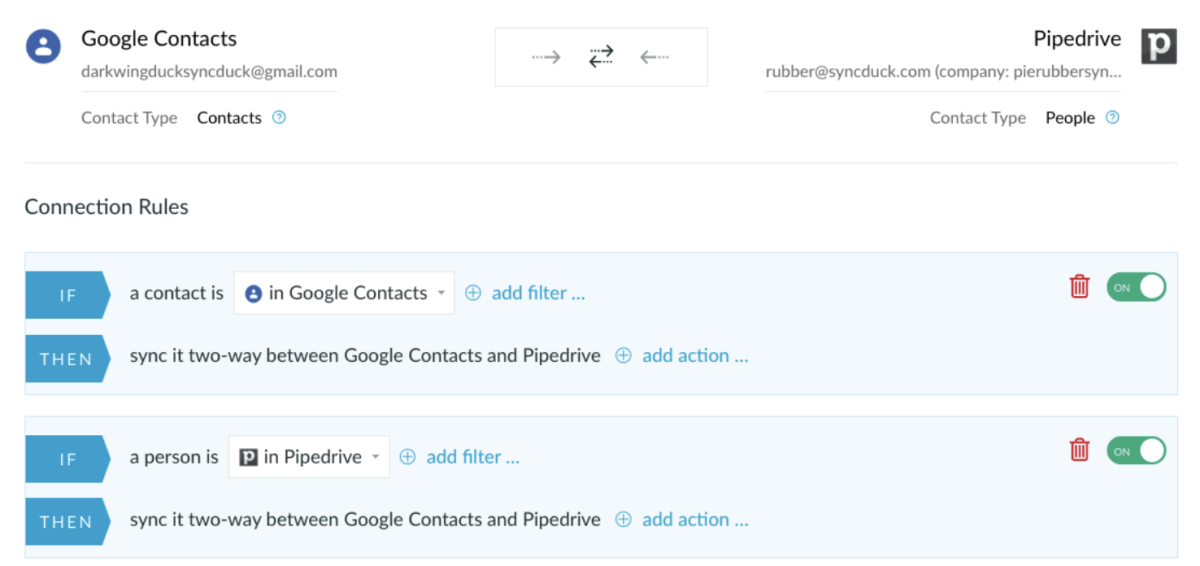 Google and Pipedrive integration
