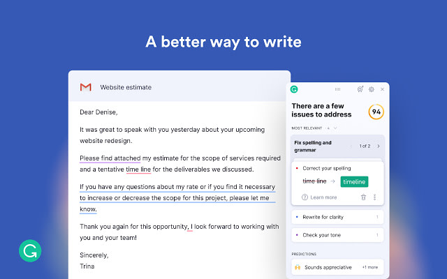 grammarly chrome extension for small business