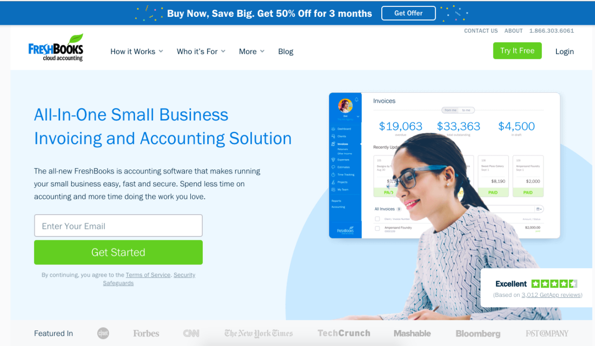 freshbooks homepage best productivity tools