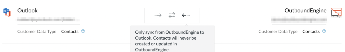 Outboundengine-outlook one way arrow