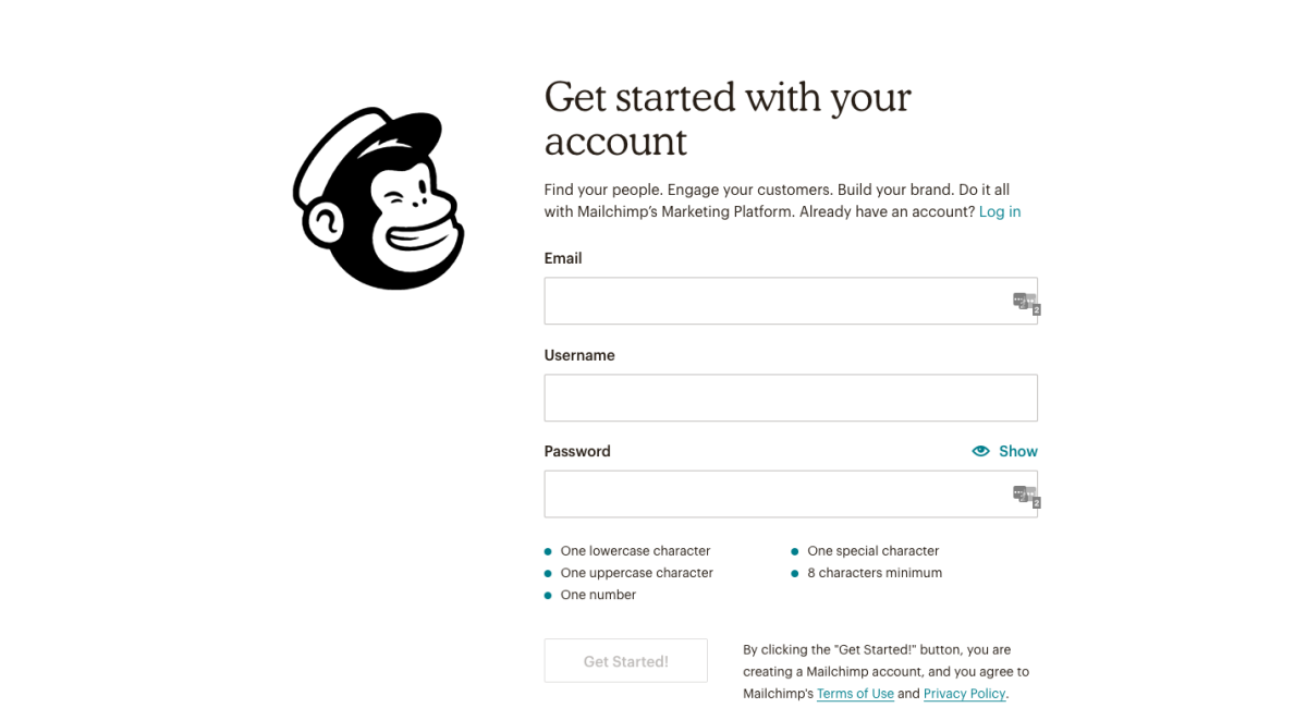 set up mailchimp