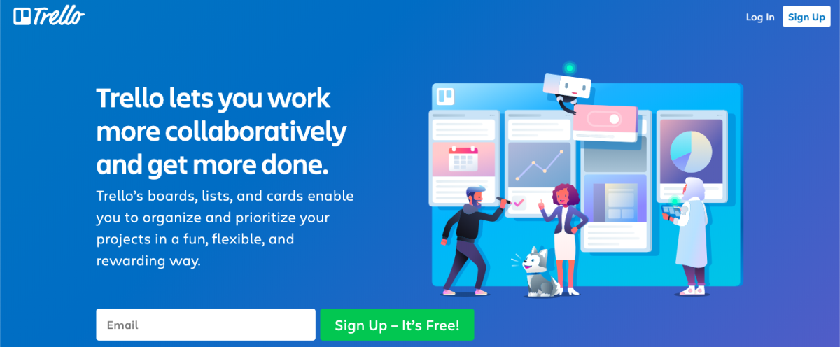 trello homepage best productivity tools