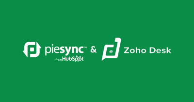 An integration for Zoho Desk empowered by PieSync: works two-way sync with 250 apps