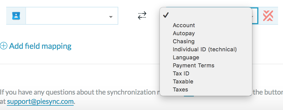 invoiced contact custom sync