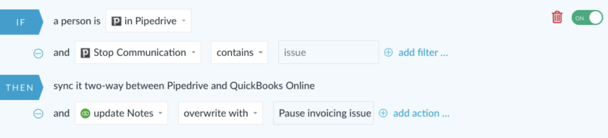 Quickbooks and Pipedrive integration