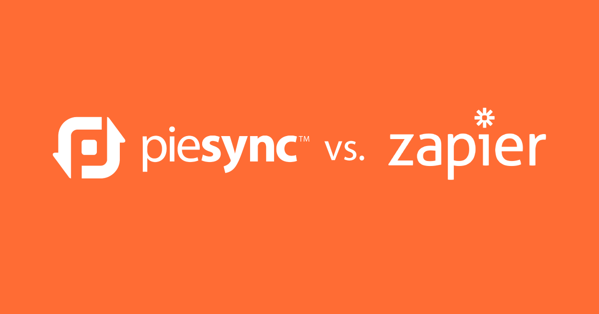 Comparing zapier vs piesync for data syncing