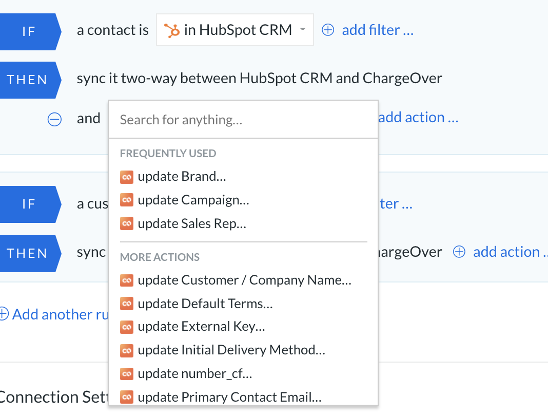 ChargeOver and HubSpot integration