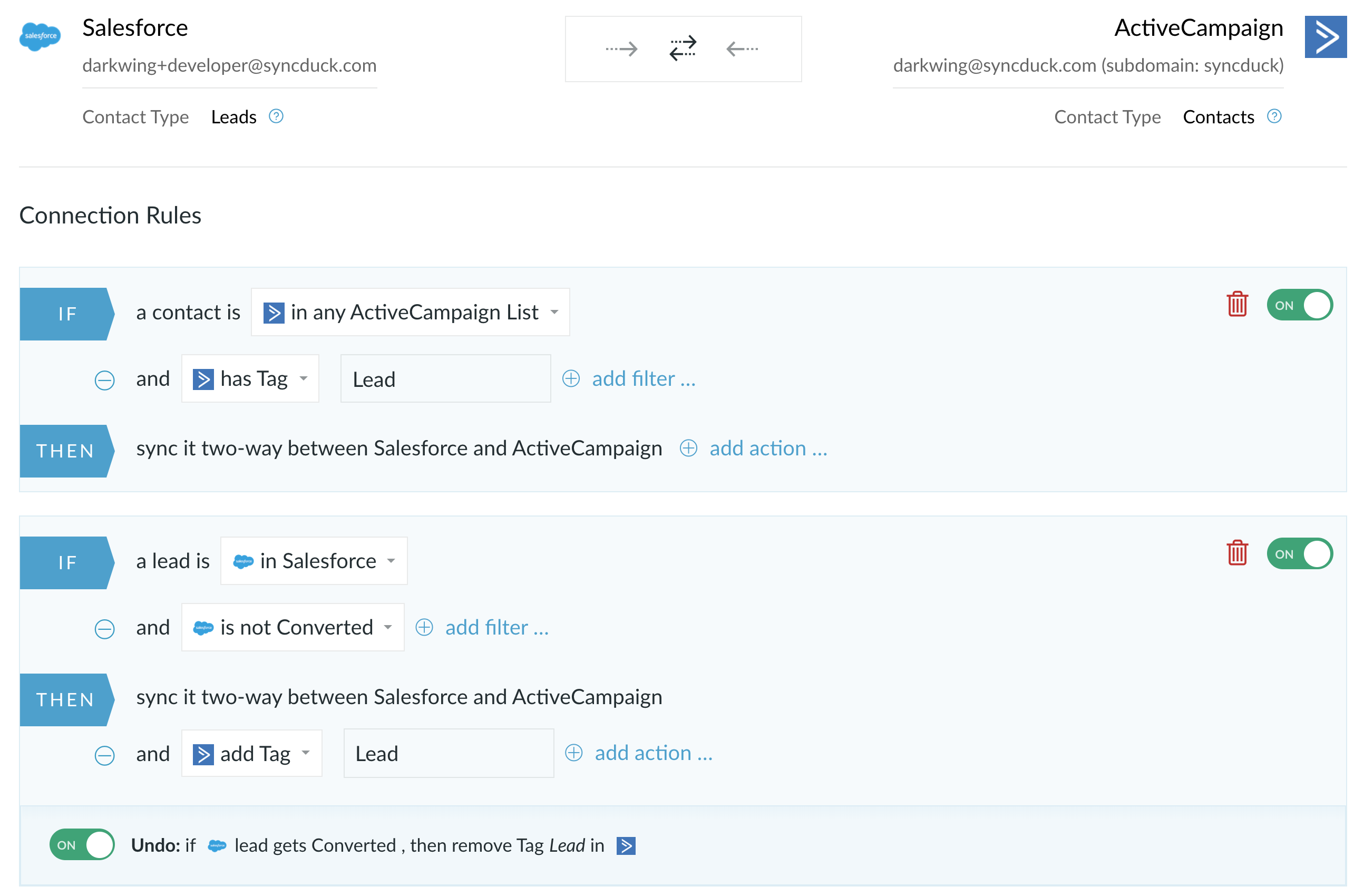 Combine the power of Salesforce and ActiveCampaign - PieSync