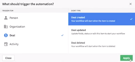 Pipedrive workflow automation vs HubSpot