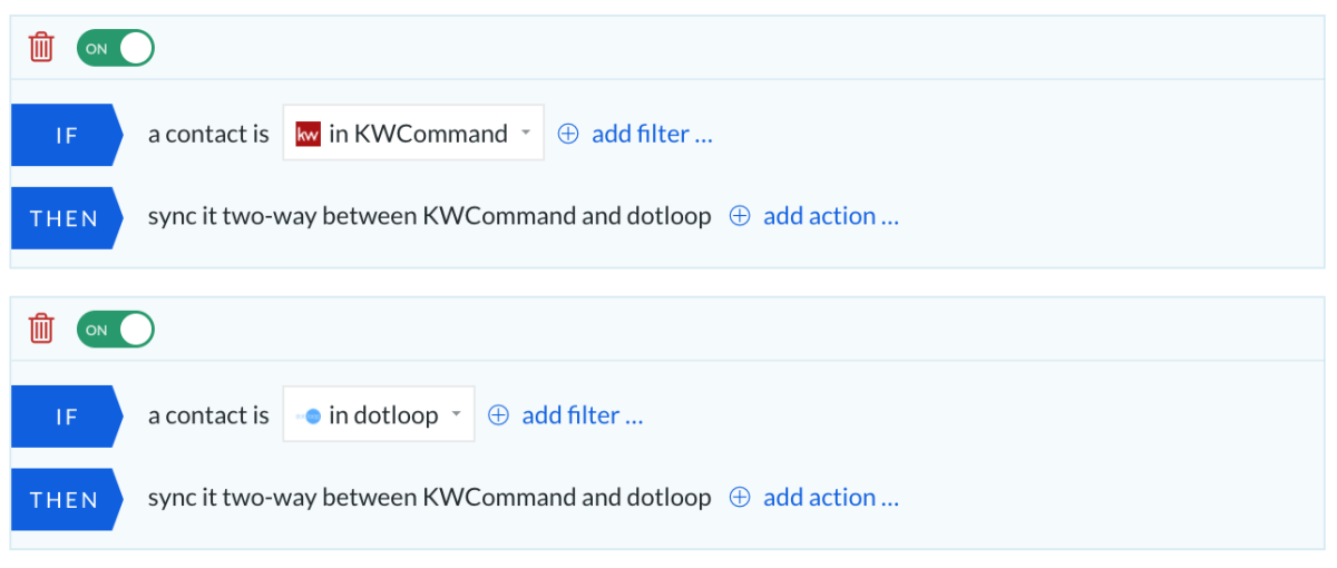 KW - Dotloop all to all rules