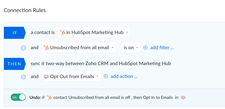 Zoho CRM and HubSpot marketing
