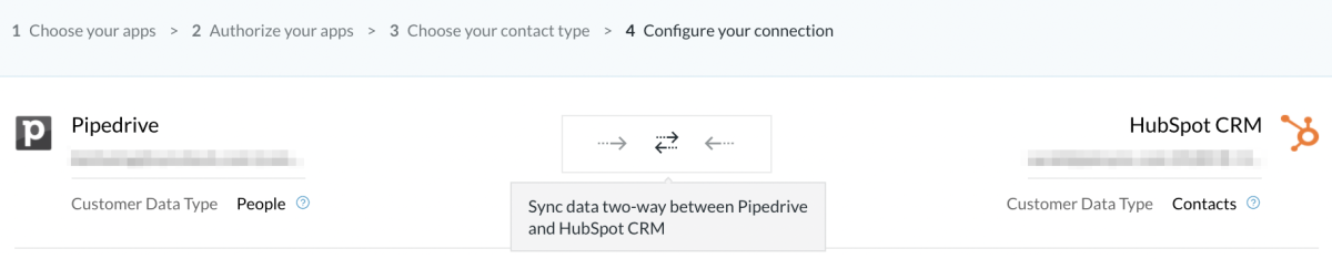 Pipedrive - HS 2way sync