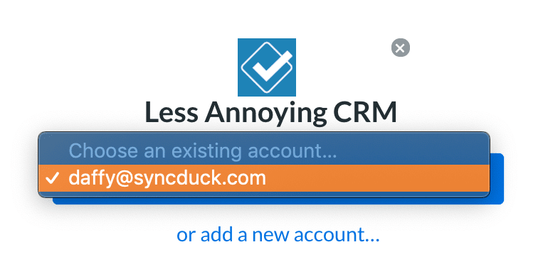 Less Annoying CRM Authorization Process Existing Accounts
