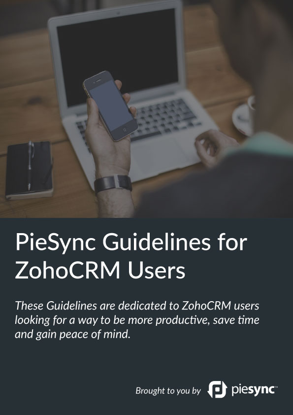 PieSync Guidelines for Zoho CRM users
