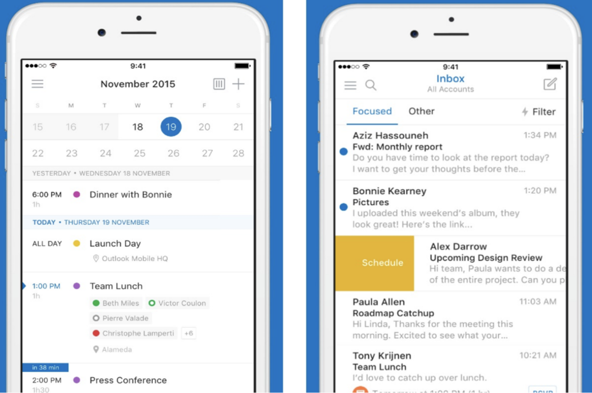 Sync your Outlook data to your phone