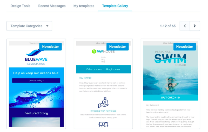 Sendinblue email templates
