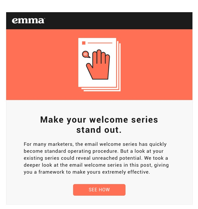 Emma good email marketing CTA example