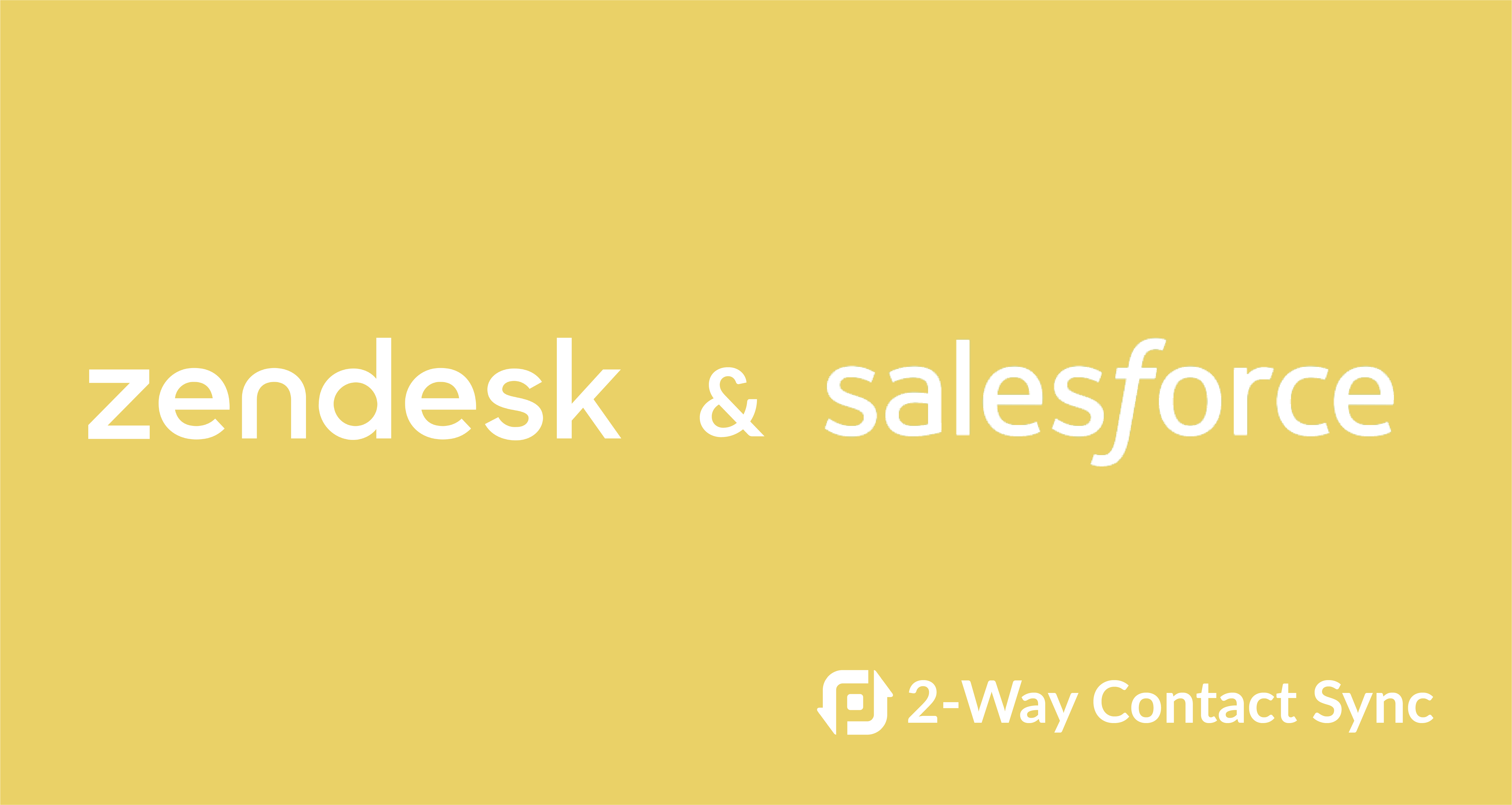 Sync contacts between Salesforce and Zendesk - PieSync