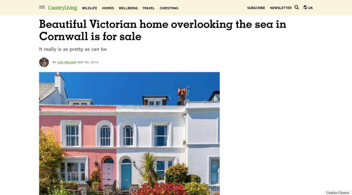 Victorian Home Overlooking The Sea In Cornwall Is For Sale