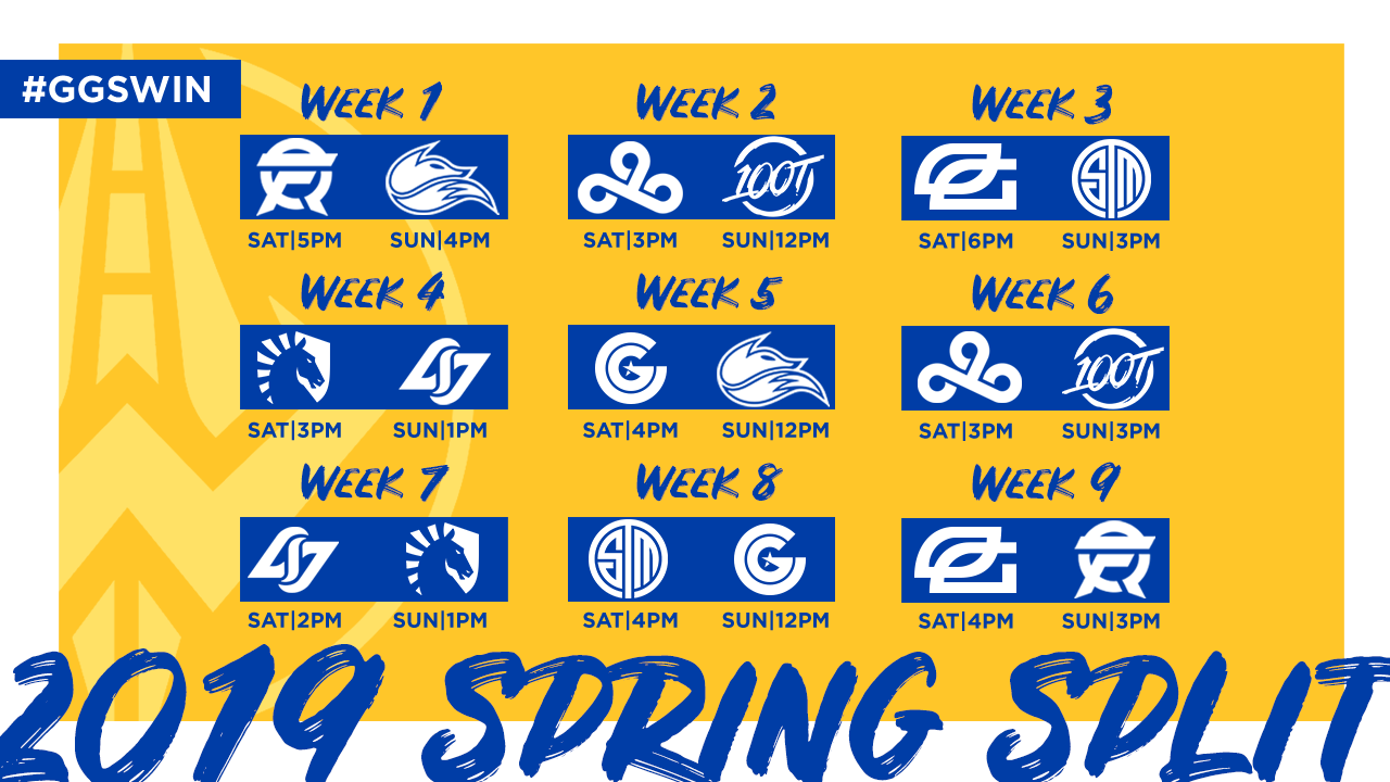 Golden Guardians Announce their LCS 2019 Spring Schedule