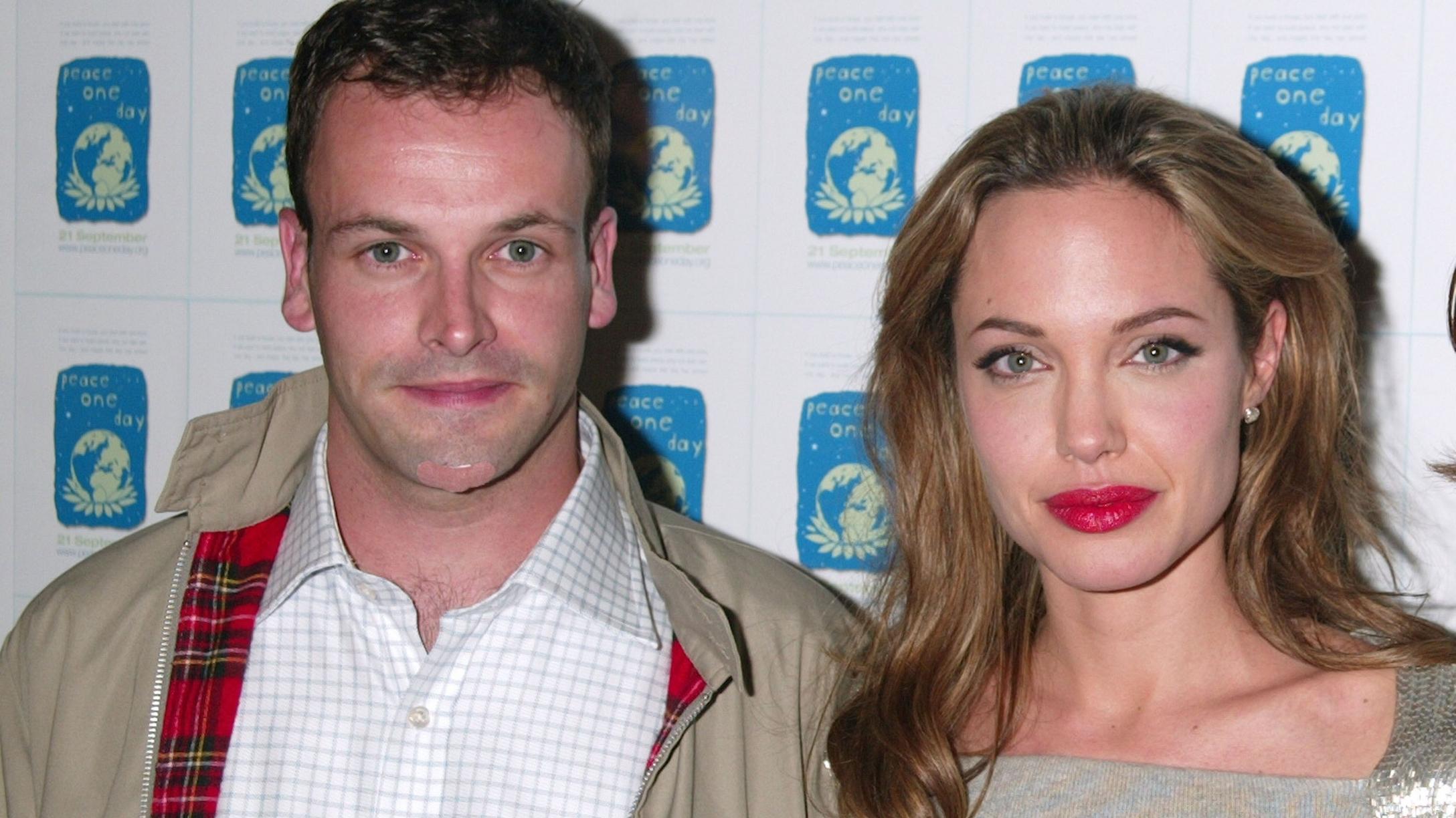 Angelina Jolie Reunites With Ex-Husband Jonny Lee Miller At His Brooklyn Home