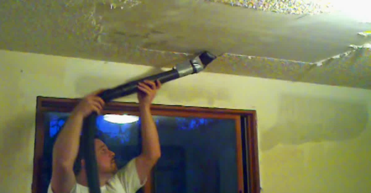 He S Sick Of His Popcorn Ceiling When He Tapes This Onto His Vacuum It Works Like Magic Littlethings Com