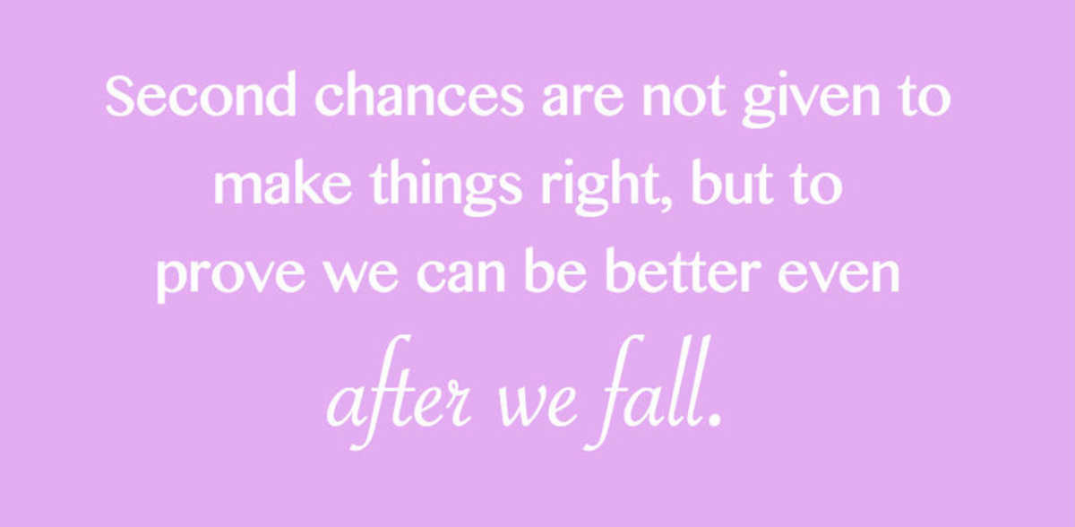 Cheating second quotes after chance Second Chances