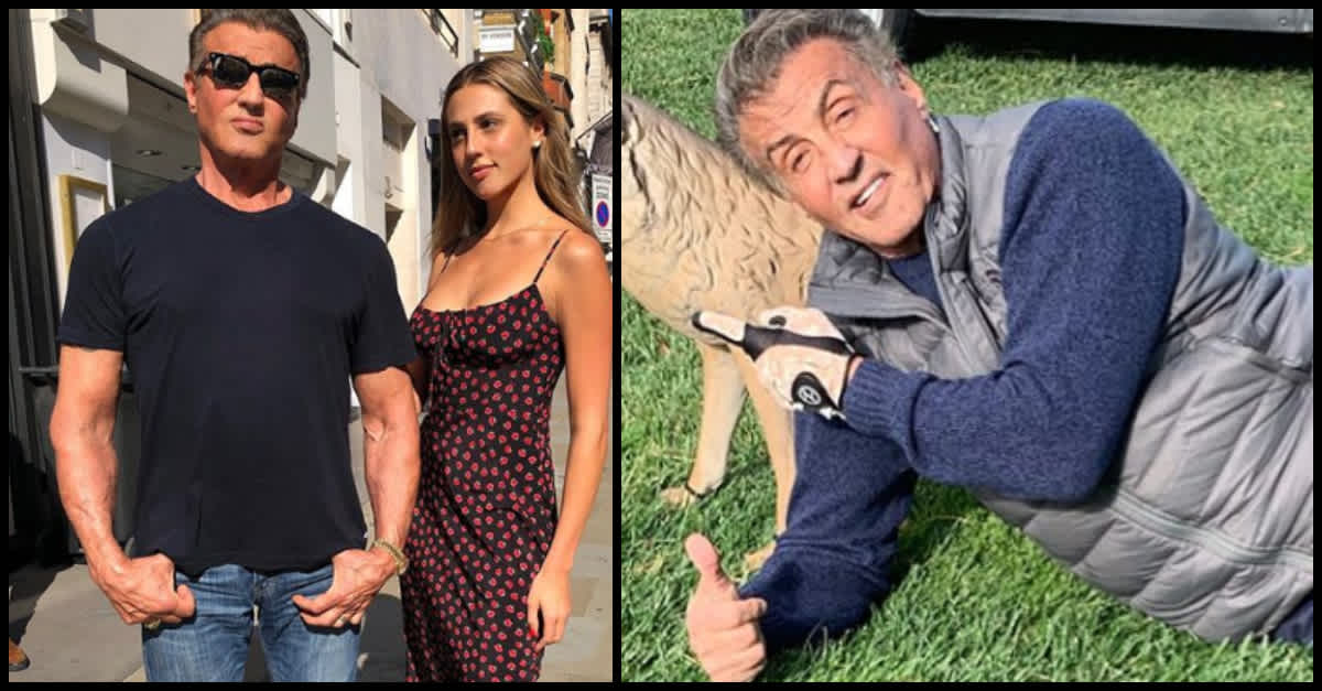 Sylvester Stallone Is Showing Off His Gray Hair On ...