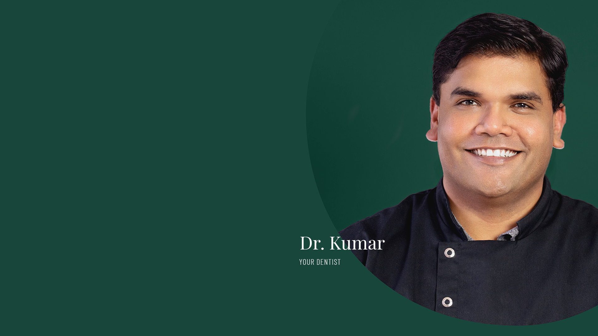 Dr. Kumar a family dentist at Vogue Dental Studios.